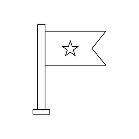 Flag Line Black Icon