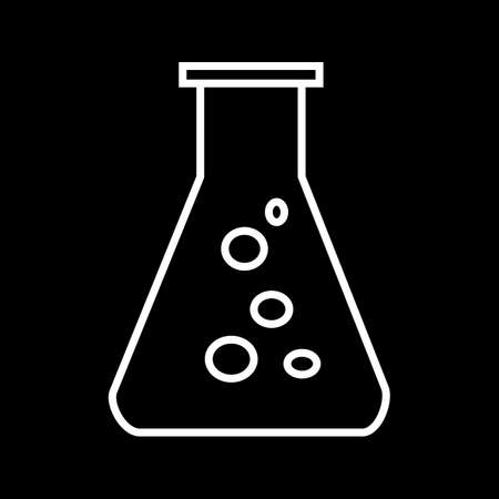 Beautiful flask vector line icon 向量圖像