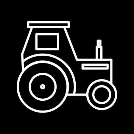 Beautiful Tractor Vector line icon