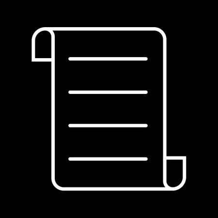 Beautiful Report Vector line icon