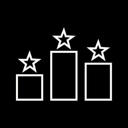 Beautiful Stars ranking vector line icon