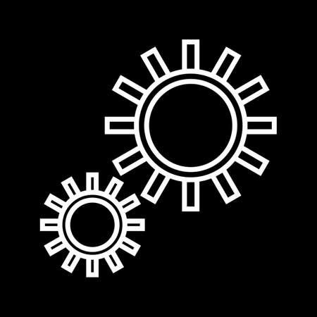 Schöne Einstellungen Vektor-Liniensymbol