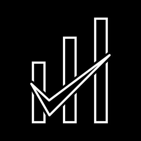 Beautiful Checked graph vector line icon Ilustrace