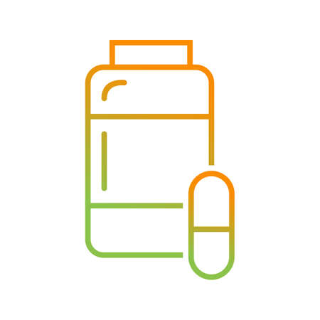 Beautiful medicines vector line icon Illustration