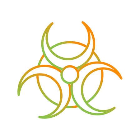 Beautiful Bio Hazard vector line icon