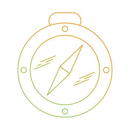 Belle icône de ligne de vecteur de boussole Vecteurs
