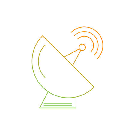 Beautiful Dish antenna line icon