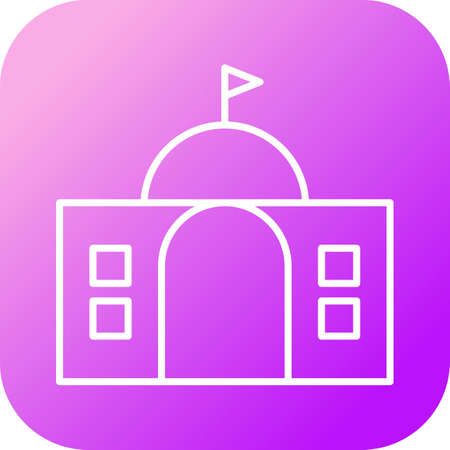 Beautiful Building Vector line icon