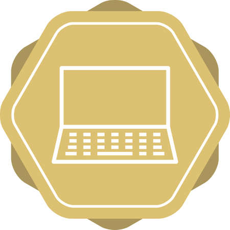 Beautiful Laptop vector line icon