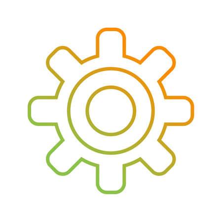 Beautiful Settings Vector line icon