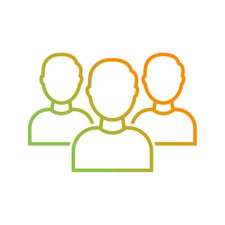 Beautiful Teamwork Vector line icon