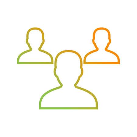 Beautiful Teamwork vector line icon Illustration