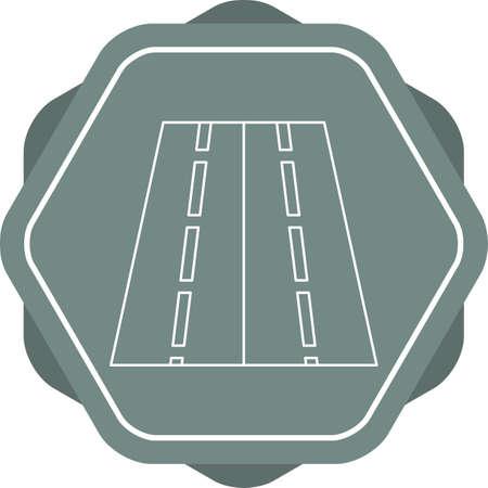 Beautiful Road vector line icon Çizim