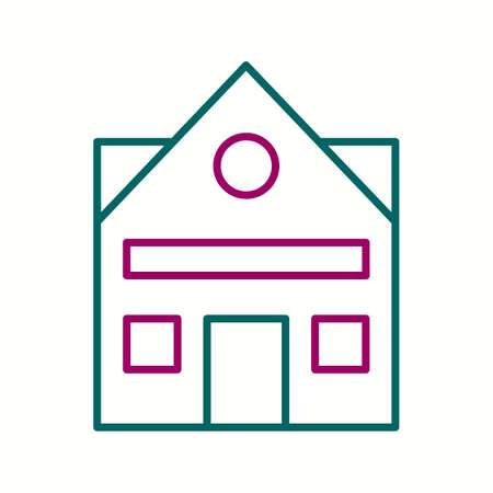 Beautiful House Vector line icon
