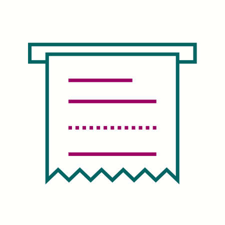 Beautiful Receipt vector line icon