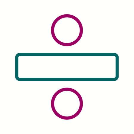 Beautiful Division vector line icon Vecteurs