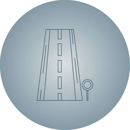 Beautifyl Signboard Vector line icon Çizim