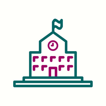 Beautiful College vector line icon Иллюстрация
