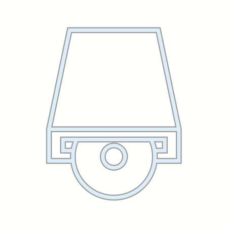 Beautiful CD rom vector line icon