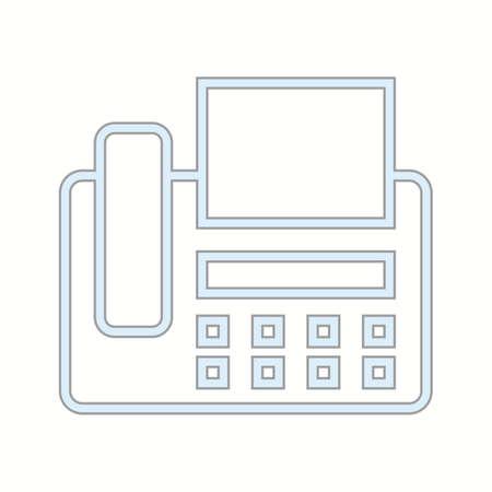 Beautiful Fax machine Vector line icon