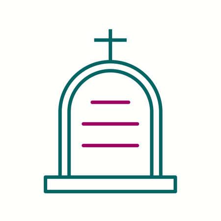 Beautiful Cemetery Vector line icon