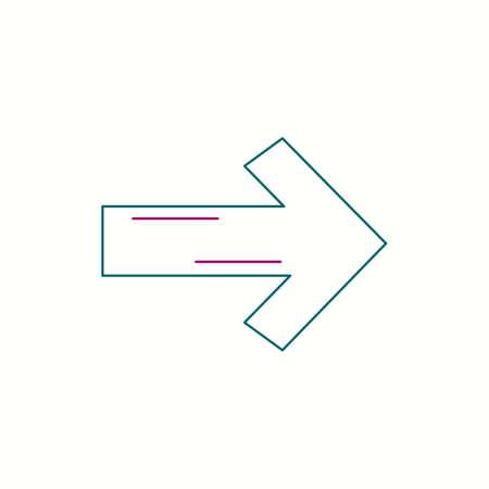 Right arrow vector line icon