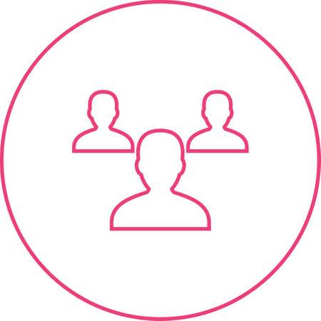 Beautiful Teamwork vector line icon Ilustrace