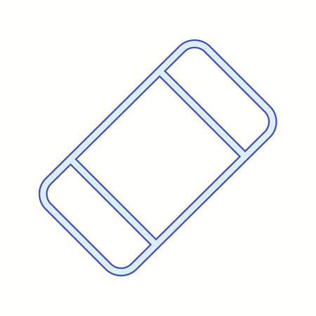 Beautiful Eraser vector line icon