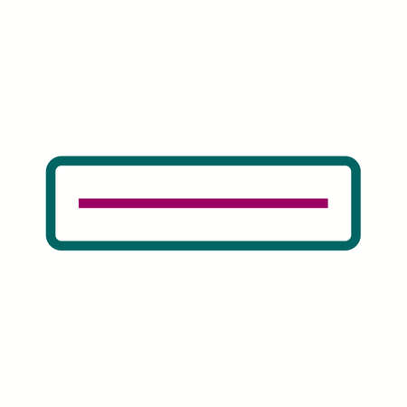 Beautiful Subtraction vector line icon Illustration