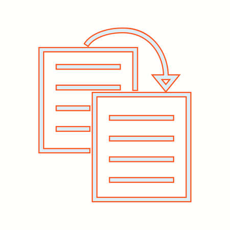 Beautiful Duplicate content vector line icon