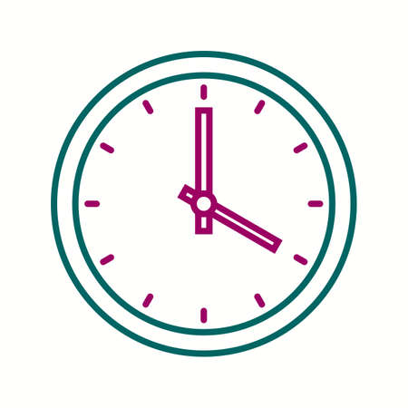 Beautiful Clock Vector line icon