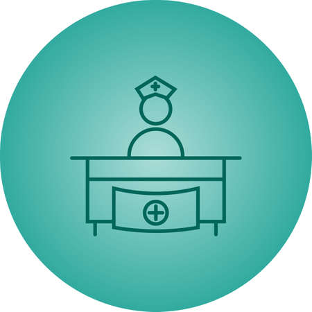Hospital reception vector line icon 向量圖像
