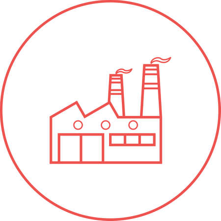 Beautiful Factory vector line icon
