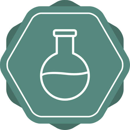 Beautiful Flask vector line icon