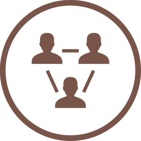 Beautiful Team Vector Glyph icon Ilustrace