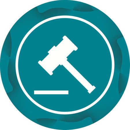 Beautiful Wooden hammer Vector Glyph icon 向量圖像