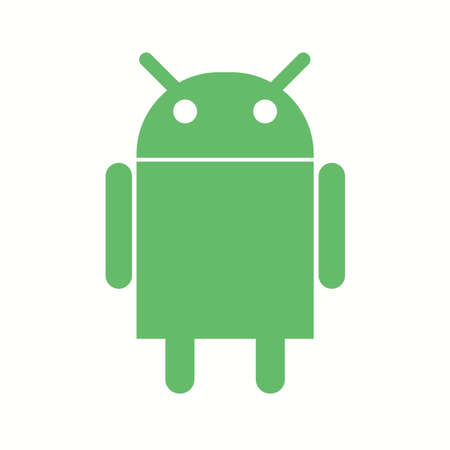 Beautiful Android logo Vector Glyph icon