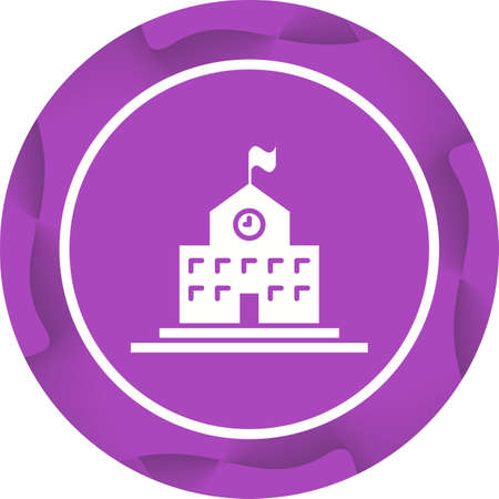 Beautiful University Vector Glyph icon Иллюстрация