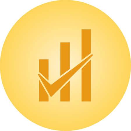 Beautiful Checked graph Vector Glyph icon