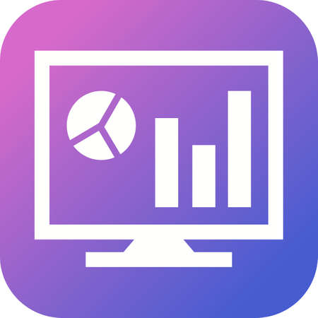 Beautiful Business chart Vector Glyph icon