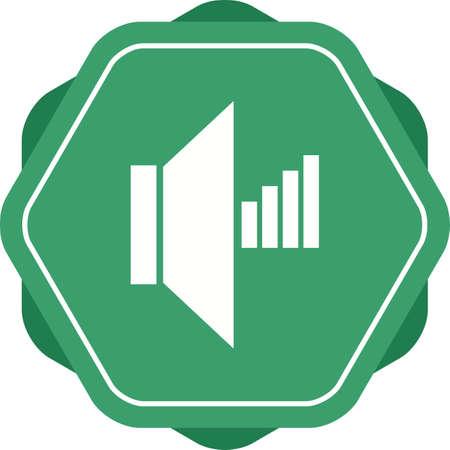 Beautiful Speaker Vector Glyph icon Ilustrace