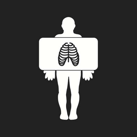 Beautiful Chest X ray Vector Glyph icon Illustration