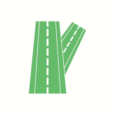 Beautiful Linked road Vector Glyph icon