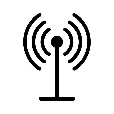 Beautiful GPRS glyph black icon
