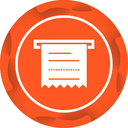 Beautiful Receipt Vector Glyph Icon