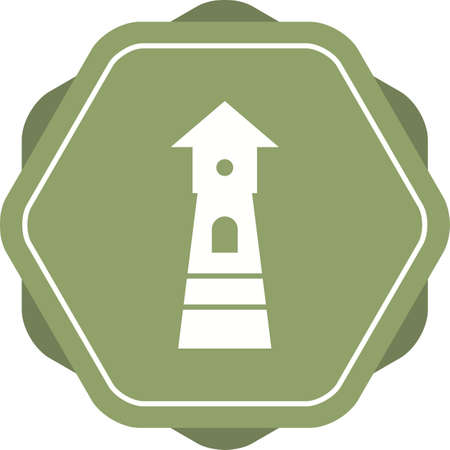 Beautiful Watchtower Vector Glyph Icon