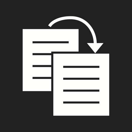 Beautiful Duplicate content Vector Glyph icon
