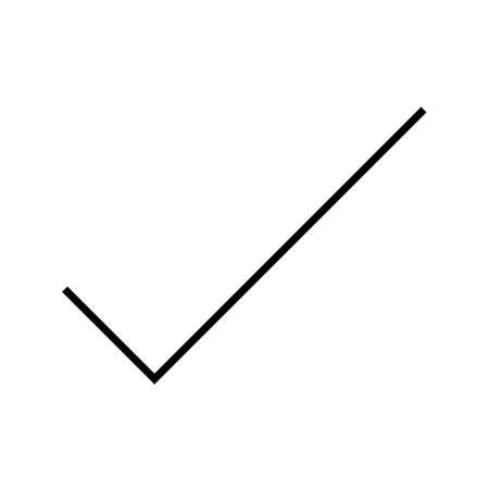 Beautiful tick line black icon Ilustrace