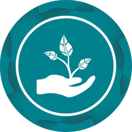 Beautiful Planting Vector Glyph icon Ilustrace
