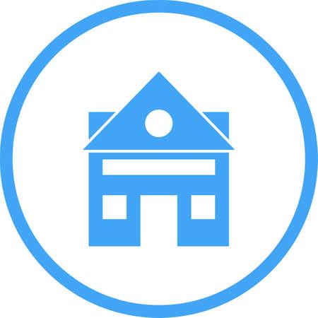 Beautiful House Vector Glyph Icon